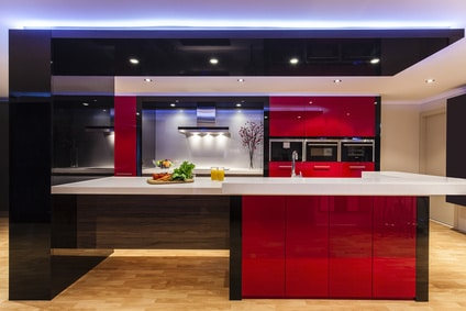 Luxurious new kitchen with modern appliances